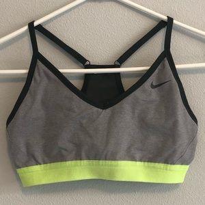 Nike gray indy sports bra